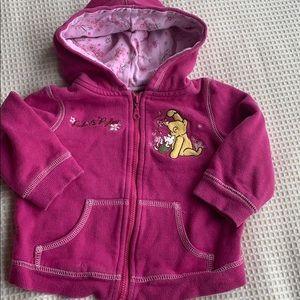 Disney Winnie the Pooh and piglet zip hoodie 18M